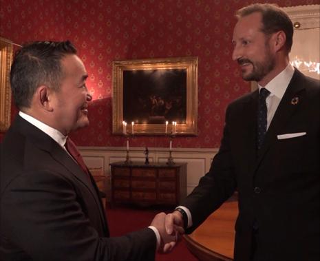 President Battulga Khaltmaagiin - HKH Kronprins Haakon